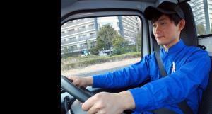 配送中のドライバー